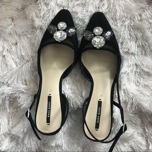 Zara basic heels 37 black